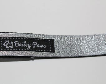 Silver Glittery Dog Lead