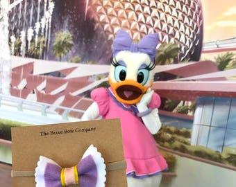 Daisy Duck Inspired Bow