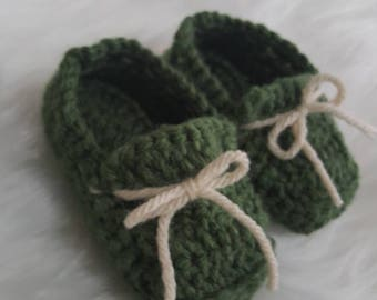 Green Boat shoes with Tan Ties