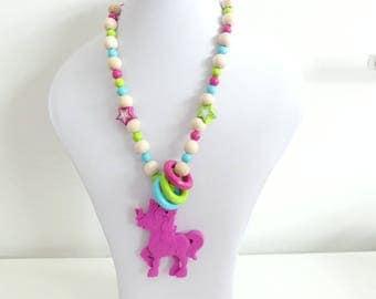 Still wearing chain pony Unicorn asterisk