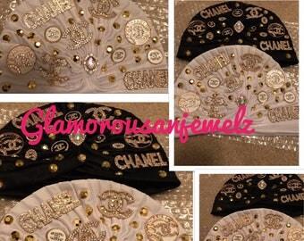 Custom Turban or hat chanel inspired