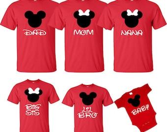 Family Disney Shirts Mickey & Minnie