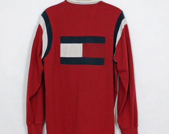 Tommy Jeans Long Sleeve Polo - M(L)