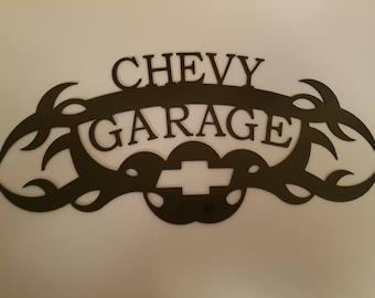 chevy garage sign