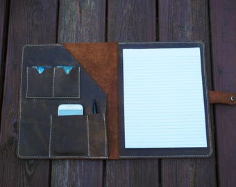 Leather portfolio,,Gift for him,Leather ipad case,Leather organizer,portfolio,leather folio,business portfolio,leather organizer,ipad case.