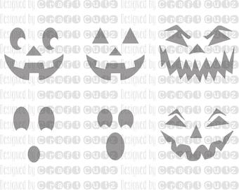Jack o'lantern - Pumpkin Face - Halloween SVG - Fall Sign - Vector Files - Silhouette Cut Files - Cricut Cut Files - SVG