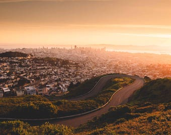 California Landscape Photography Prints / San Francisco California Sunrise, Twin Peaks / California Landscape / Prints Wall Art / Fine Art