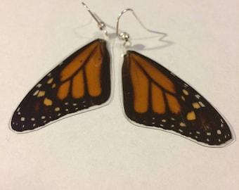 Monarch Butterfly Earrings (Top, Medium)