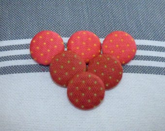 SET OF 6 BUTTONS IN 2 DIFFERENT COLORS COTTON