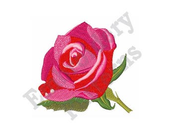 Rose In Bloom - Machine Embroidery Design
