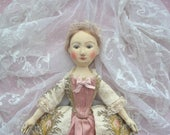 Hand Carved Queen Anne wooden doll