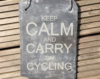 Keep Calm And Carry On Plaques - Keep Calm Sign - Keep Calm And - Kayaking Gifts - Climbing - Biking Art - Biking Gifts - Cycling Gifts