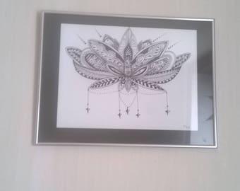 Unique mandala Lotus