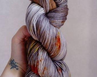 "Wool hand dyed by hand 100% Merino Wool ""Eucalyptus"""
