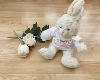 Easter bear etsy first easter personalised teddy bear personalised easter bunny teddy easter bunny teddy bear negle Gallery