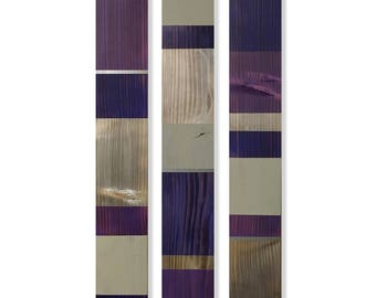Gentil Farmhouse Purple And Grey Wood Wall Hanging, Modern Farmhouse Gray And  Purple Wall Decor,