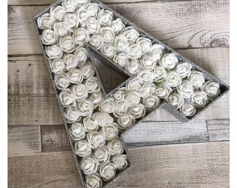 Floral freestanding glitter letters home decor nursery gift baby house