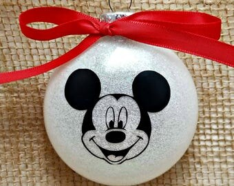 """Mickey Mouse  4"""" Glass Ornament"""