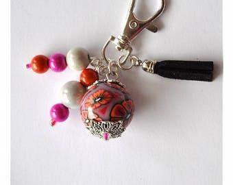 Keychain / bag Pearl ball charm