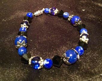 Lapis and Fun Beaded Bracelet