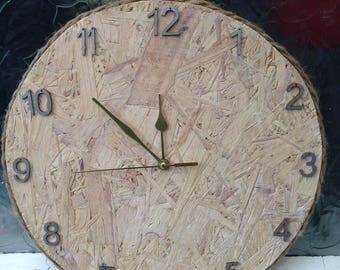 OSB wall hung clock