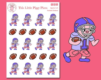 Football Oinkers - Football Planner Stickers - Football Stickers - Sports Stickers - Football Practice - Team Sports - [Sports 1-01]