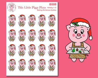 Baking Christmas Cookies Planner Stickers - Baking Stickers - Christmas Cookies Stickers - Christmas Treats - Holiday Treats -[Holiday 1-17]