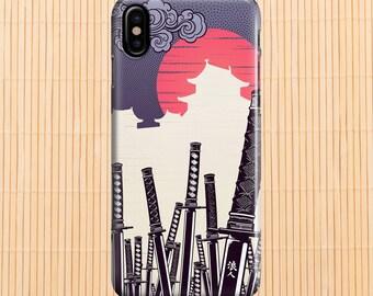 iphone x case Samurai Swords iphone 6 case iphone 7 case iphone 8 case iphone 8 plus case samsung s8 case samsung note 8 case 7 edge