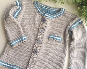 Hand Knitted Cardigan, Baby cardigan, Baby clothes, Baby, Baby shower, Baby gifts, Winter baby clothes, Knitted baby clothes, Baby knits