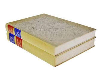 Vintage 1962 Journals Of The Expeditions Lewis and Clarke 2 Volume Hardcover Illustrated Book Set