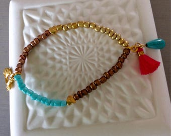 Summer bracelet with scooter charm