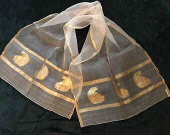Vintage 1940's Baar & Beards Silk Scarf