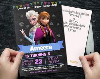 Frozen Invitation, Frozen Birthday Invitation, Frozen Party, Frozen  Birthday Invitation, Frozen, Disney Frozen SL