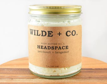 HEADSPACE organic body butter, vegan, whipped body butter, wax free body butter, kokum butter, mango butter, shea butter, coconut oil