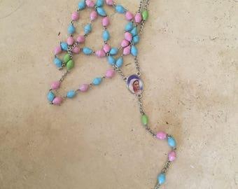 Catholic rosary beads easter gift catholic rosaries catholic rosary rosaries new baby gift easter gift baby gift baby girl negle Images
