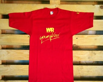 Free shipping!!! Rare Vintage 80's War band - youngblood t shirt