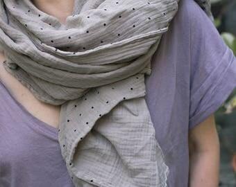 cotton gauze scarf oversized scarf