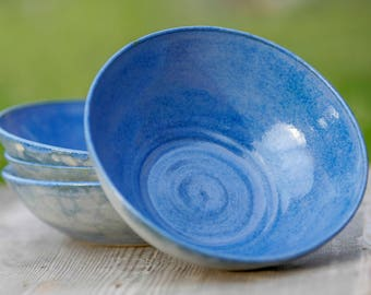 Set of Four Ceramic Bowls - Ceramic Bowls - Pasta Bowls - Salad Bowls - Soup Bowls