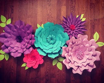Giant/ Large Paper flowers for back drop customizable for wedding, bridal shower, baby shower, kids room, nursery,