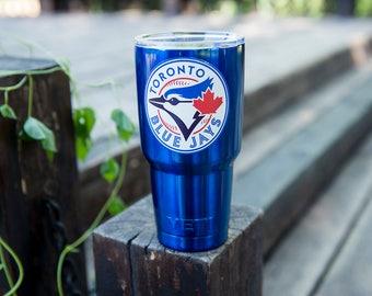 Toronto Blue Jays Yeti Cup Toronto Blue Jays Birthday Party Toronto Blue Jays Cup Toronto Blue Jays Personalized Gift  Decal