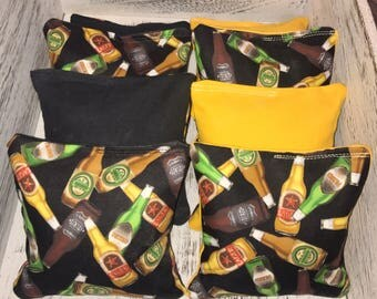 Wine and Beer bottle corn hole bags