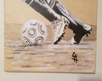 Soccer- Fancy Feet - Canvas Painting