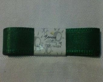 2.5 YARDS OF RIBBON SATIN 15MM GREEN DOUBLE SIDED