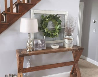 Rustic Entryway Table - Farmhouse Table