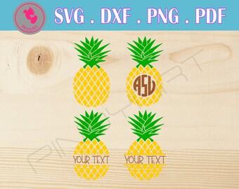 pineapple svg pineapple svg file pineapple monogram svg pineapple monogram pineapple svg files for cricut pineapple monogram frame svg print