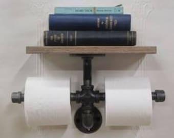 Toilet paper holder bathroom shelve