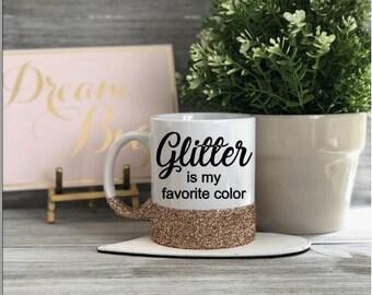 Glitter Mug, Coffee Mug