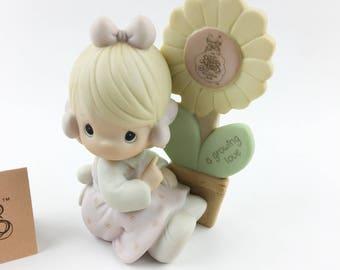 Vintage Precious Moments 1988 Symbol Of Membership A Growing Love Figurine E-0108