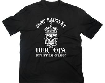 His Majesty's Grandpa fun T-shirt