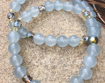 Aquamarine jade stretchie
